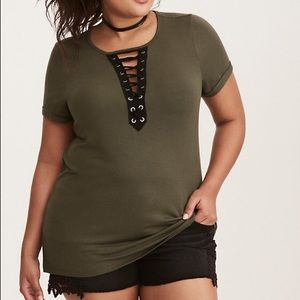 Torrid Lace-up Top (Plus Size)
